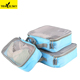 Custom compression 3 set packing cubes travel luggage organizer