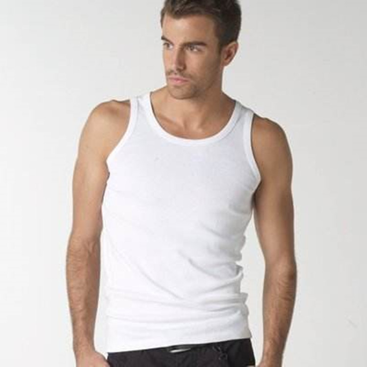 Hot Sale Professional Lower Price Male Gold Gym Cotton Singlet