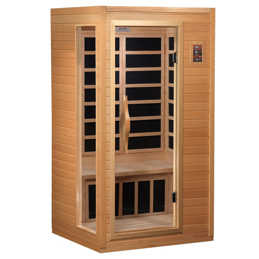 one person mini home dry steam sauna room indoor with. Black Bedroom Furniture Sets. Home Design Ideas