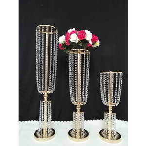 ZT40240 Hot sale beautiful crystal centerpieces for wedding table decoration flower stand