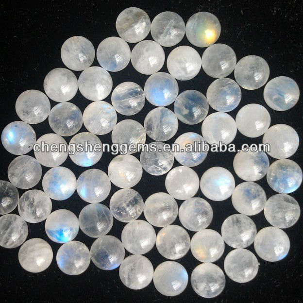 8mm natural half drilled AAA grade moonstone gemstone