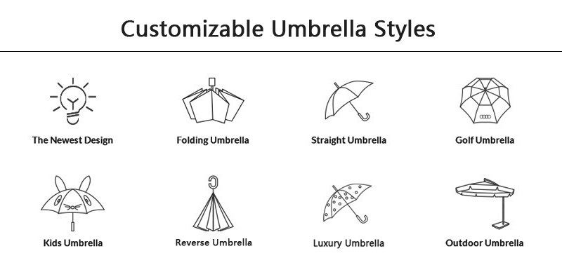 Mudah Dibawa Kualitas Perjalanan OEM 5 Lipat Mini Payung untuk Dijual
