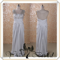 RSE262 Gorgeous Maternity Patterns Silver Bridesmaid Dresses With Rhinestones