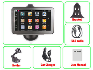 Promotional 3G Car GPS Navigation Cheap GPS with 256MB+8GB Flash+Bluetooth+AVIN+TMC