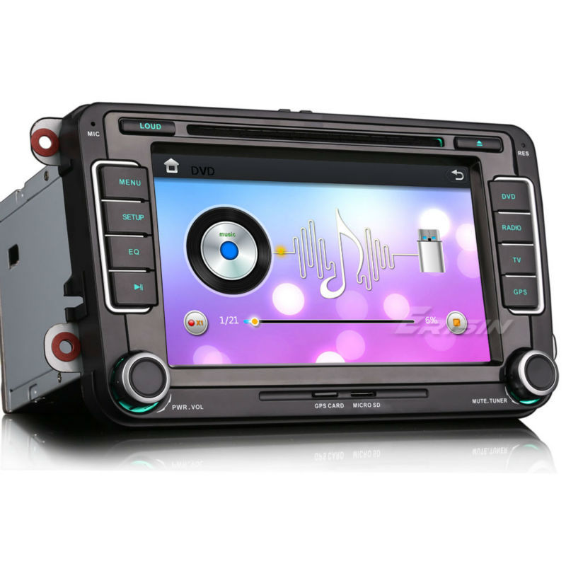 "Erisin ES7698V 7"" 2 Din Car Audio DVD CD Player for Polo V 6R Golf 5 6"