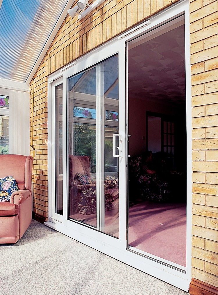 China supplier high quality pvc sliding doors tempered for Quality patio doors