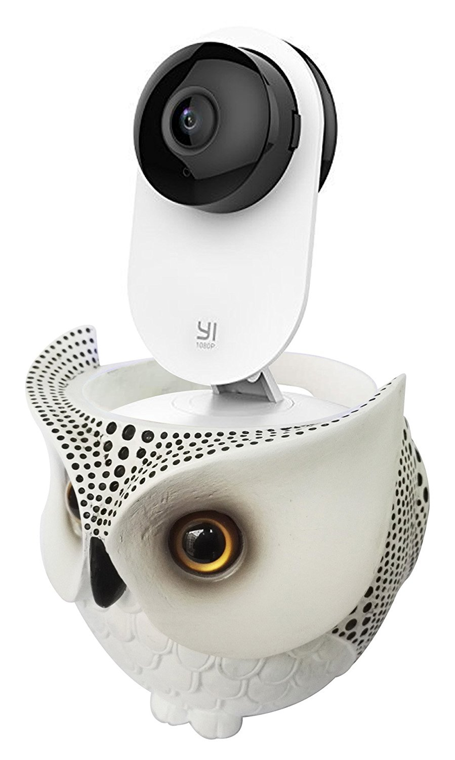 FitSand Owl Statue Crafted Stand Station Holder Guard for YI 1080p Home Camera