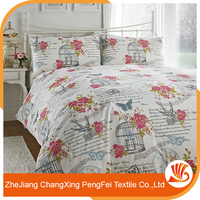 New design comfortable home textile print bed cover fabric for sale