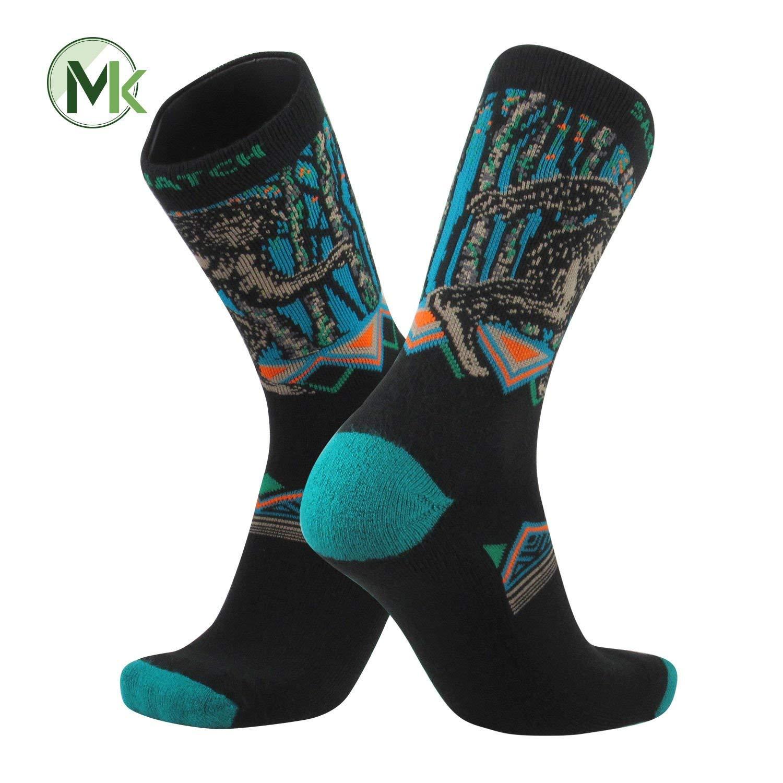 TCK Elite Journey Knitted Sasquatch Big Foot Squatch Crew Socks USA Made (Small)