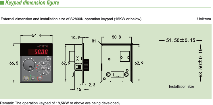 SVC control 3 phase AC power compact size variable-frequency drive