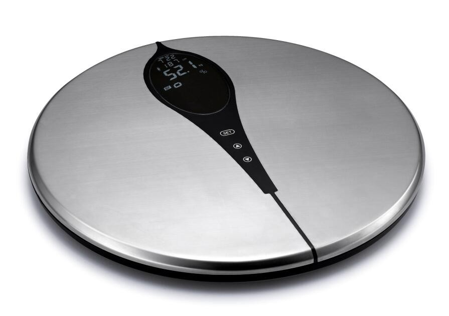 Round Full Stainless Steel electronic Body Fat Scale /weighing scale for Healthcare body analyser USA