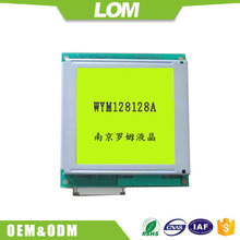 Nuovo 128128 positivo modulo lcd grafico t6963c lcd display 128x128 con il giallo <span class=keywords><strong>verde</strong></span> del display