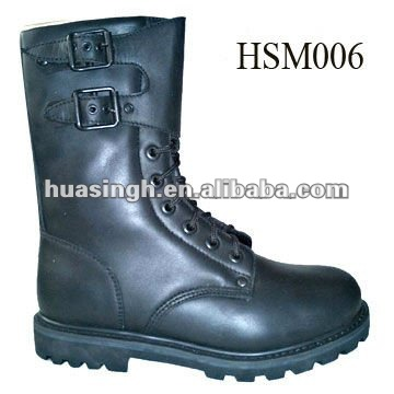 full leather fire resistant top quality rubber sole firefighting police boots