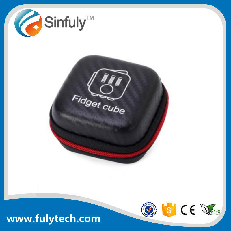 Black Zipper Box For Fidget Cube without Fifget Cube