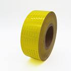 Professional Yellow Safety Tape Reflective Stickers Self Adhesive for road