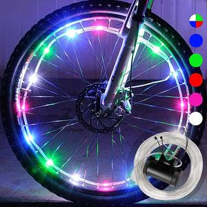 Colorful Waterproof Cycle LED Bicycle Car Spoke Light Bike Tire Accessories LED Bicycle Wheel Light
