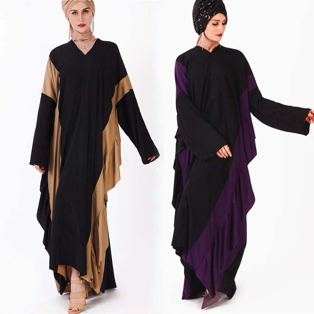 2019 wholesale muslim women rayon fabric dolman sleeves moroccan caftan dress dubai butterfly abaya