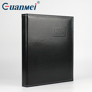 50 Sheets A4 size document file folder PU cover transparent pp inner a4 pocket photo scrapbook leather photo album