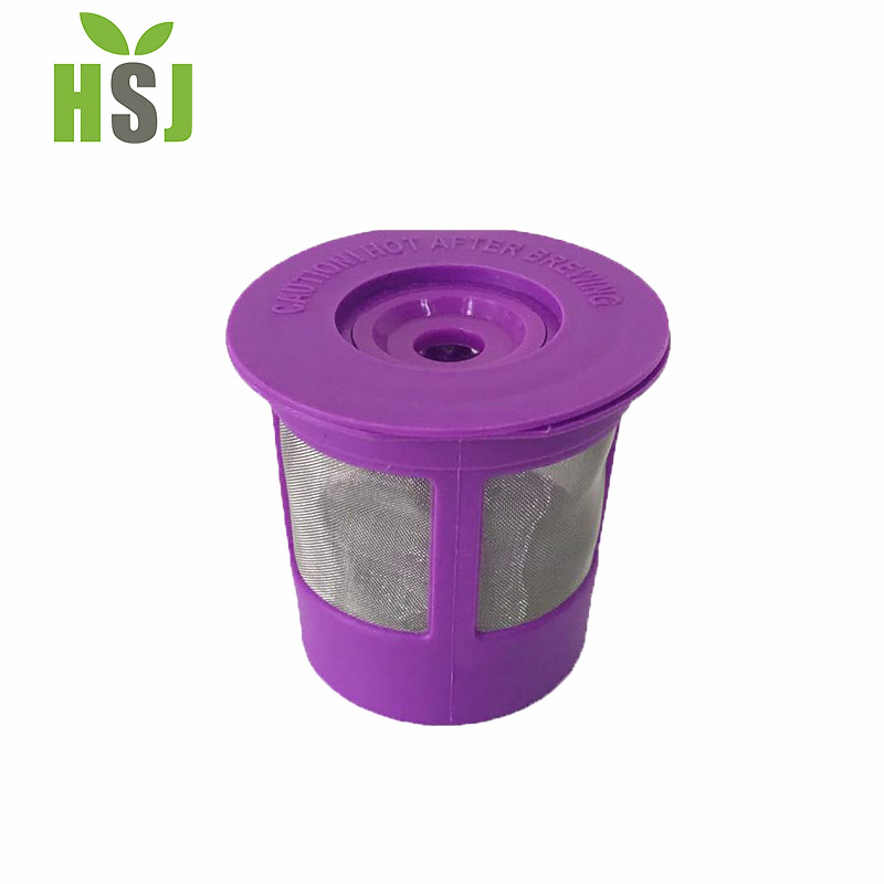 Wholesale stainless steel reusable purple keurig k cup coffee filter