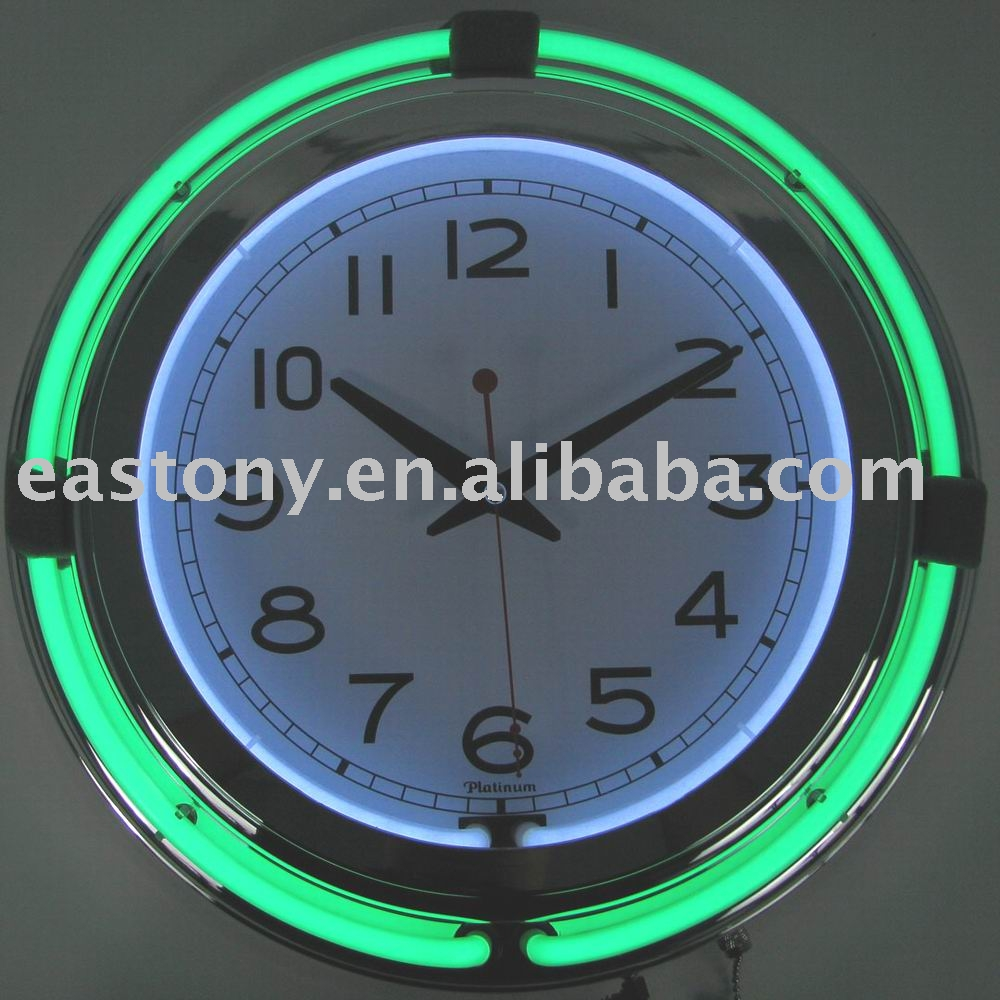 Neon clock neon clock suppliers and manufacturers at alibaba amipublicfo Image collections