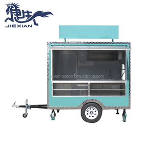 JX-FS250 shanghai Jiexian food van trailer cart small box trailers for sale