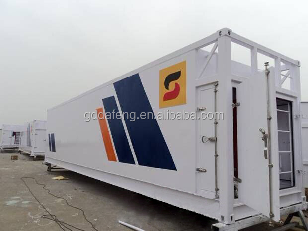portable fuel station skid mounted containerized mobile fuel station