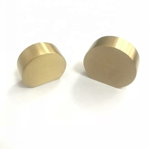 Good quality USA and Europe style brush brass furniture hardware cabinet drawer round knob pull