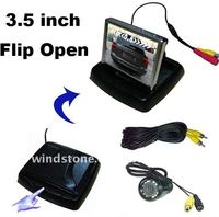 3.5 inch Car Monitor Flip Open With IR Rearview Camera