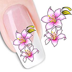 Nicedeco - 1pack New Products Nail Tattoo Sticker Flowers Nail Design Manicure Decals Nail Art Water Nail Art Decal / Tattoo / Sticker Nail Art Decoration Flower Sticker Decal BE114