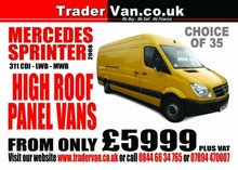 Mercedes Sprinter 311 CDi LWB & MWB High Roof Panel Vans