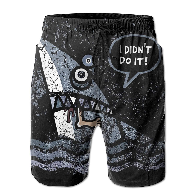 8b527ebcb66 Get Quotations · SVVOOD Mens Beachwear Swim-trunks Quick-drying Retro Shark  In Dark Surf Board Shorts