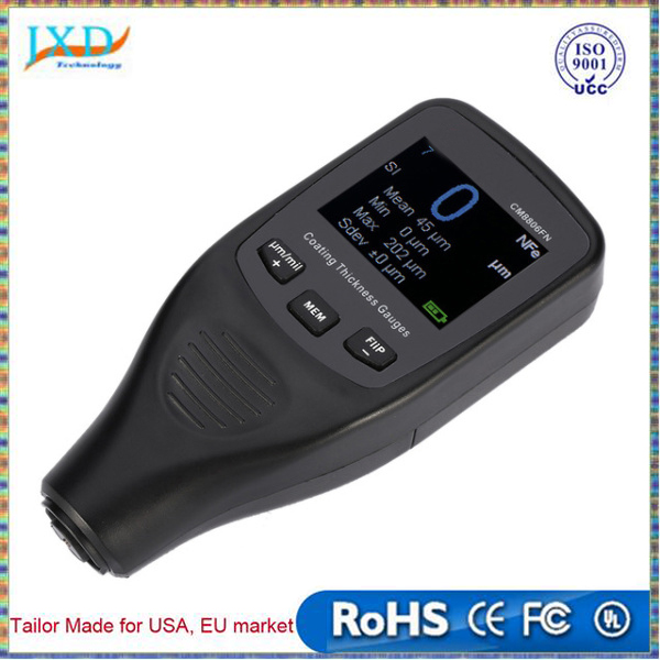 High Percision Paint feeler gauge Digital Coating Thickness Gauge Tester Fe/NFe Single & Continuous Measure Data Storage