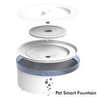 Silent design battery operated pet water fountain purifier for large size dog