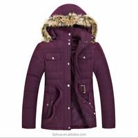 women winter long coat with fur hood