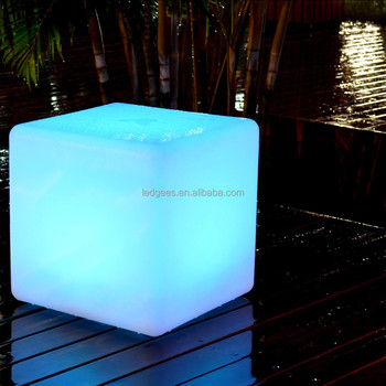 RGB Color Changing LED Cube / LED Cube Chairs / Light Cube Seat