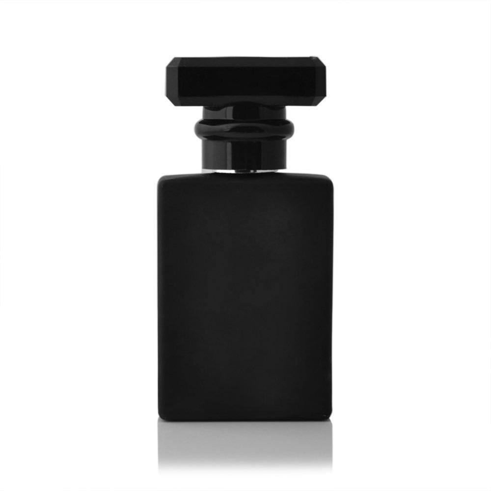 Vidro de cristal de luxo atacado vazio frasco de perfume preto para venda