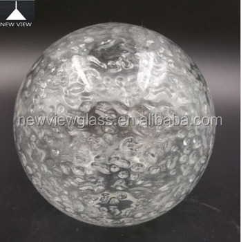 Hand Blown Glass Ball Hanging Lamp/clear Acid Effect Vetro ...