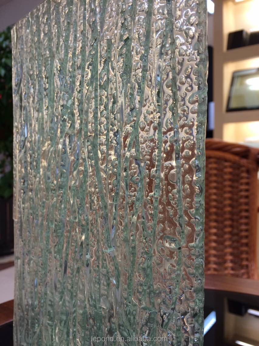 5mm Embossed Textured Glass Sheets Embossed Glass Door
