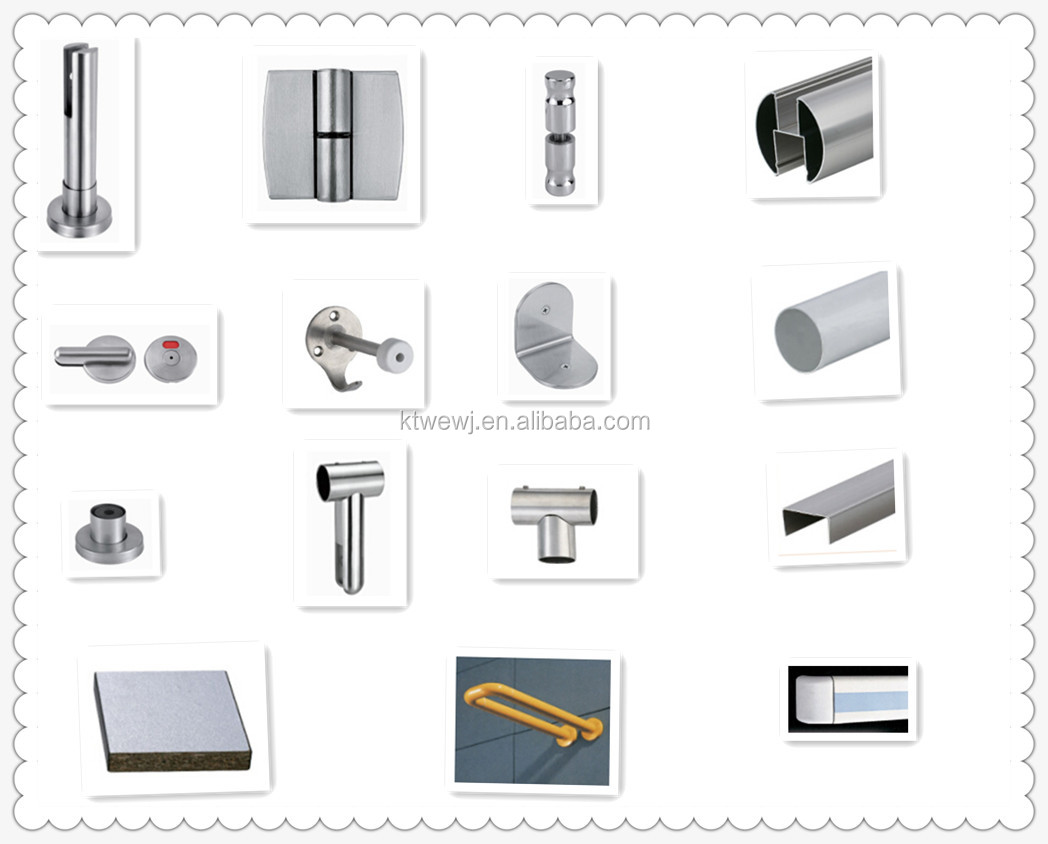 manufacturer cubicle hardware toilet partition board brackets