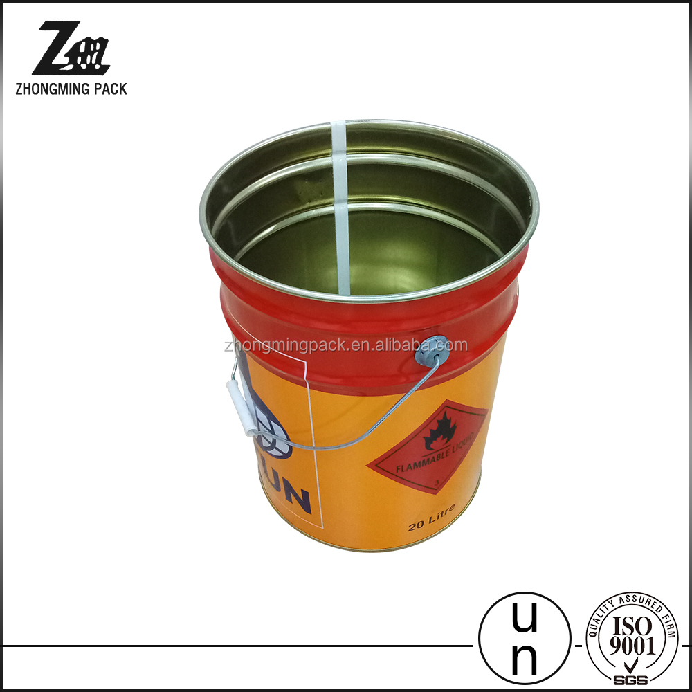 20 L tin buckets for sale,solvent pail,metal container.paint pack barrel