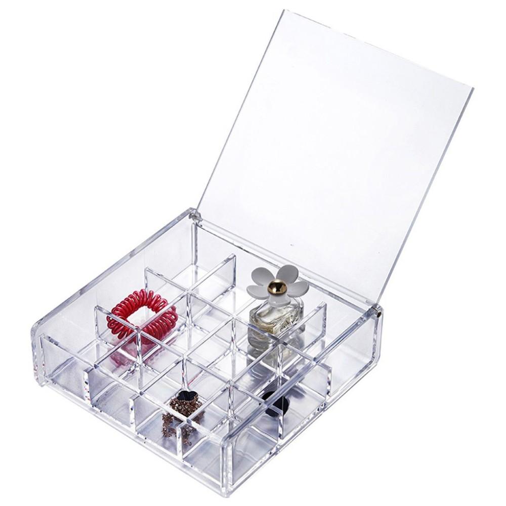 Acrylic Makeup Organizer Lucite Jewelry Storage Box Plexiglass ...