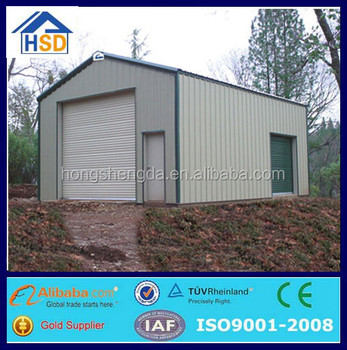Flat Pack Low Cost Prefab Metal Garage/carport Made In China - Buy ...