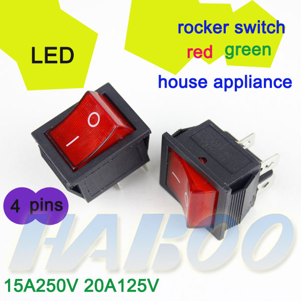 Light Switch 4 Pin On-off 2positions On-off Rocker Switch ...