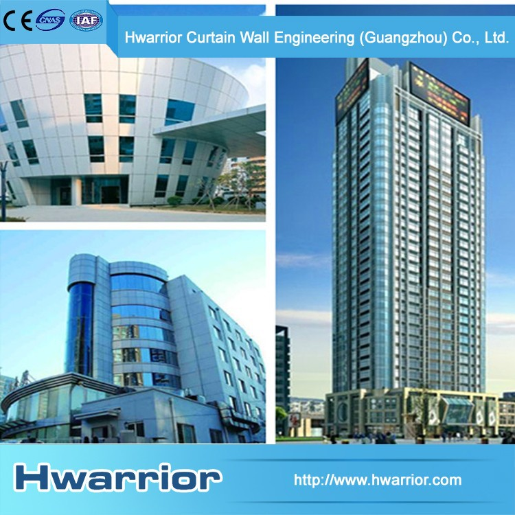 Hwarrior Guangzhou China Aluminum 6063-T5 Hidden Frame Curtain Wall