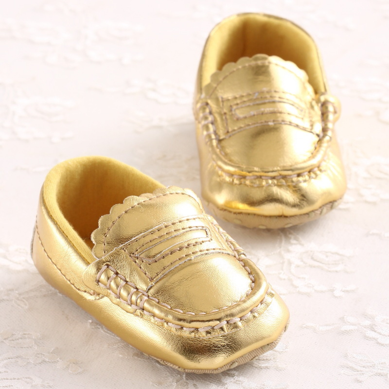 39f86fd7457 Get Quotations · Fashion New PU Leather Infant Toddler Golden Spring Autumn  Prewalker Shoes Newborn Baby Kids Soft Soled
