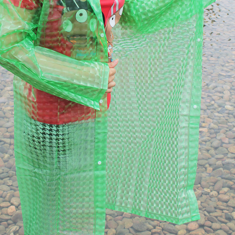 Environmental PE/PEVA/PP Material rain disposable poncho raincoat