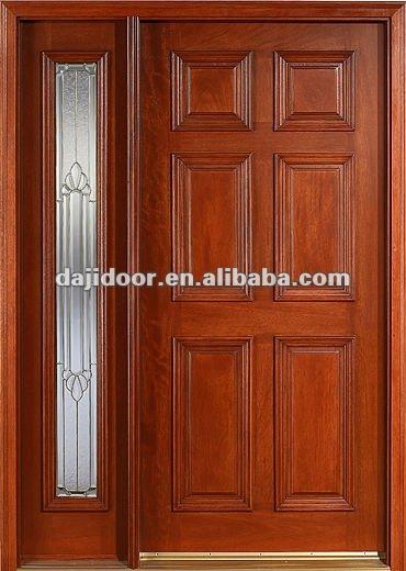 Dise o puertas de entrada principal y sidelite roble for Precios de puertas de madera entrada principal