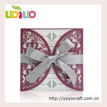 Custom Laser Cut Wedding Invites Crown Design 16th Birthday Invitation Card
