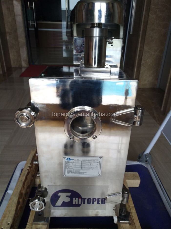 Hot sale tubular centrifuge main used beer,water, coconut,fruit,beverage filtration