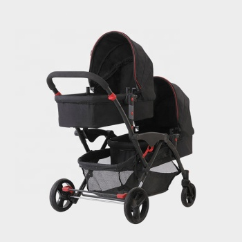 Double strollers twins travel stroller twin strollers foldable twin baby carriage